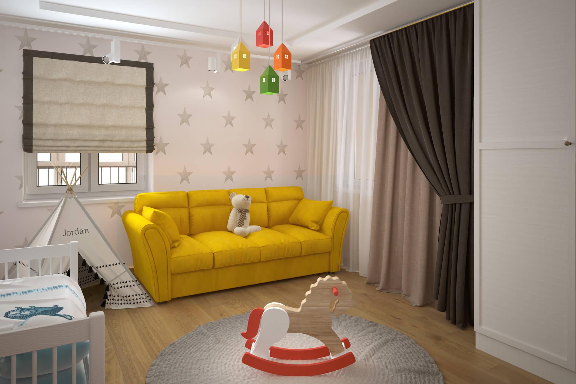 Интерьер для однокомнатной квартиры с детьми фото