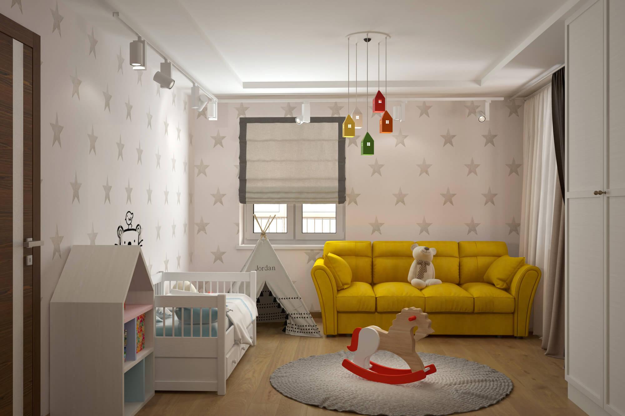Проект однушки для семьи с ребенком фото
