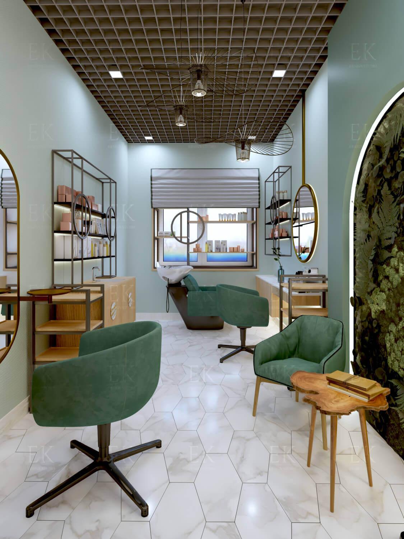 Фото интерьера, салон красоты площадью 92 кв.м. в стиле Лофт ... | 1500x1125