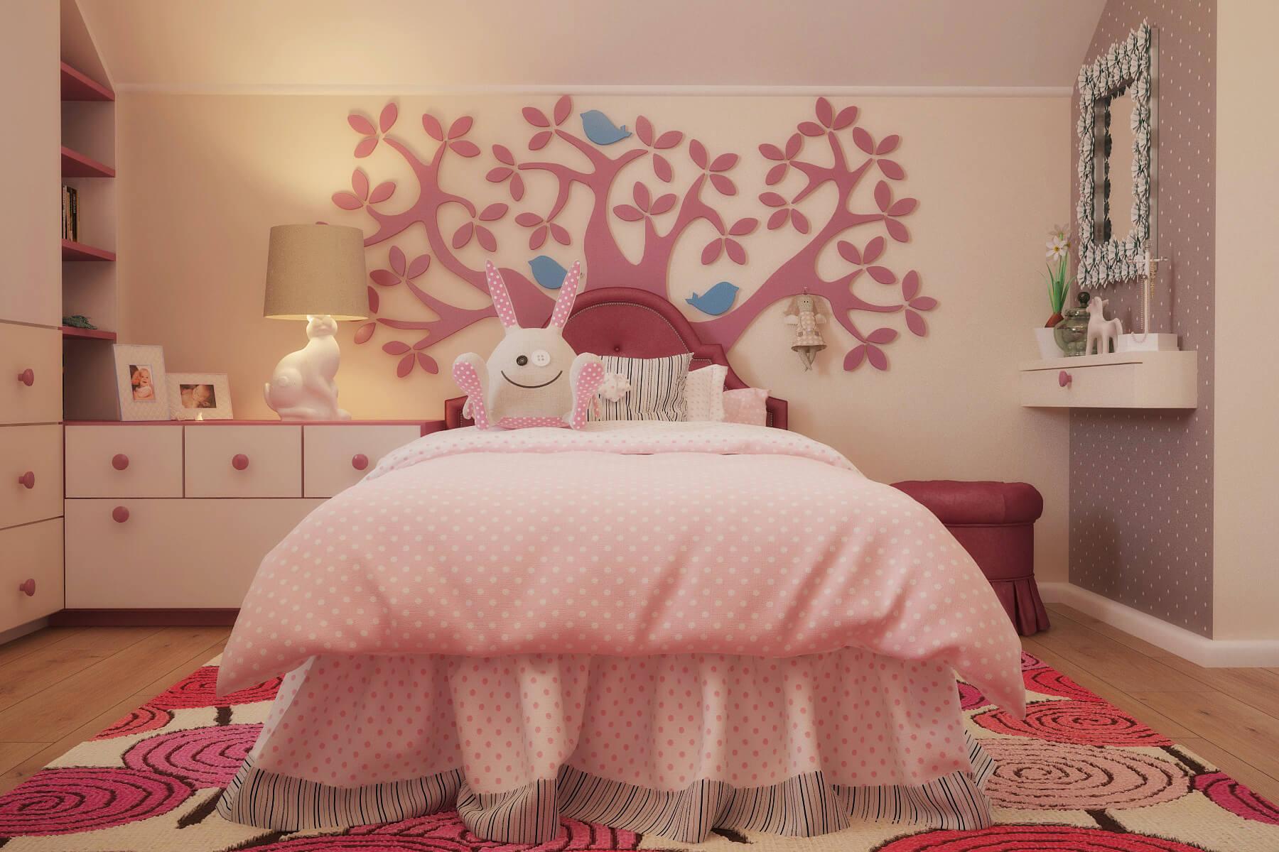 Детская комната для девочки дизайн 14 квм